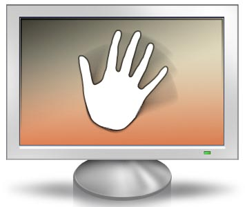 Waving hand in front of monitor that doesn't use PWM dimming